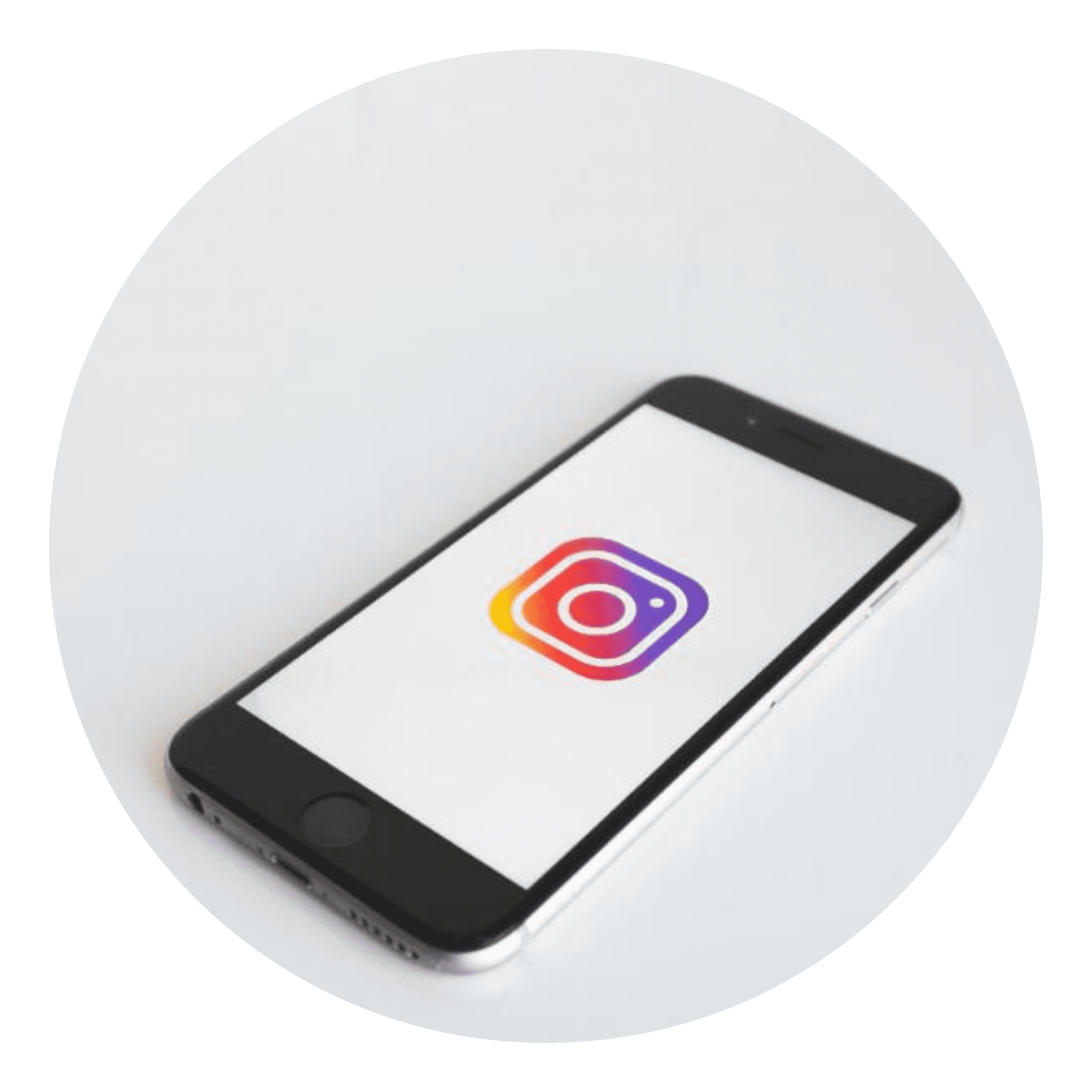 Mobiele telefoon met Instagram icoontje